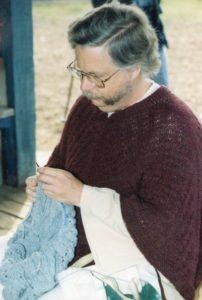 Charlie Knitting